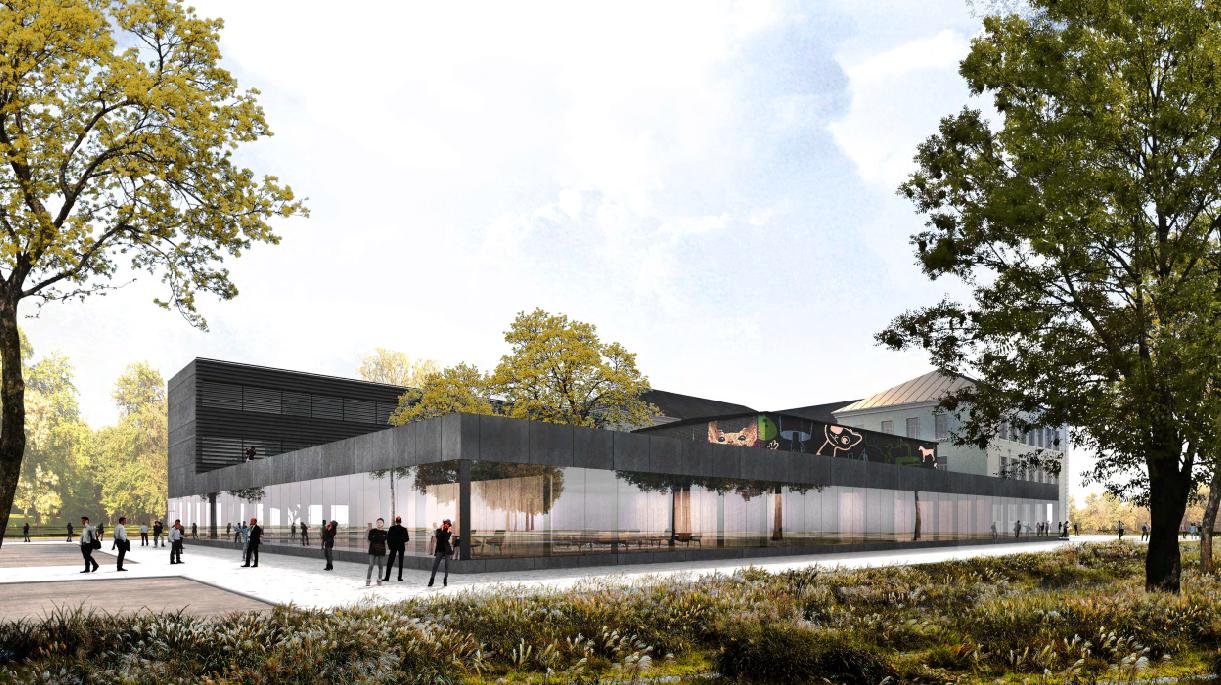 """Narva riigigümnaasiumi ja Kesklinna Põhikooli arhitektuurikonkursi võitis Salto arhitektuuribüroo ideekavandiga """"Tahvel"""""""