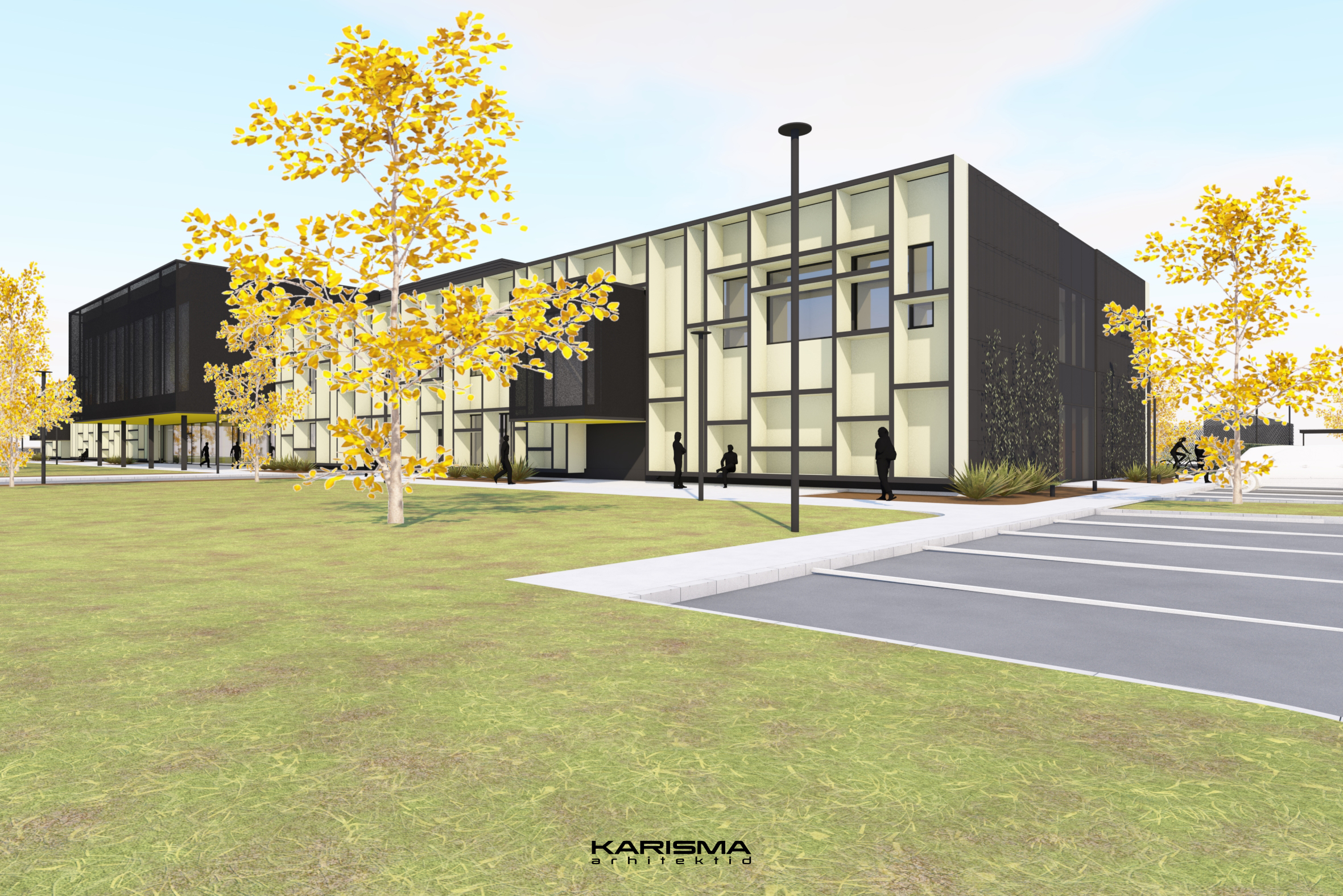 Sügisel avatav Saaremaa Gümnaasiumi koolihoone saavutas täiskõrguse